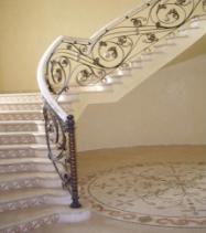 декоративные элементы из нержавеющей стали для лестниц