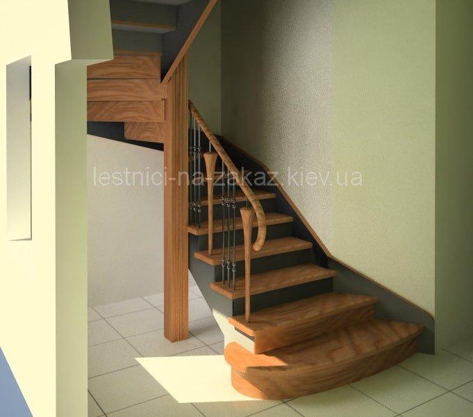 Чертежи и схемы забежной лестницы бук