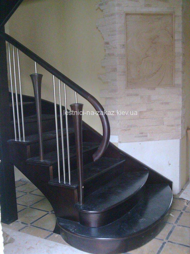 темная  Чертежи и схемы забежной лестницы
