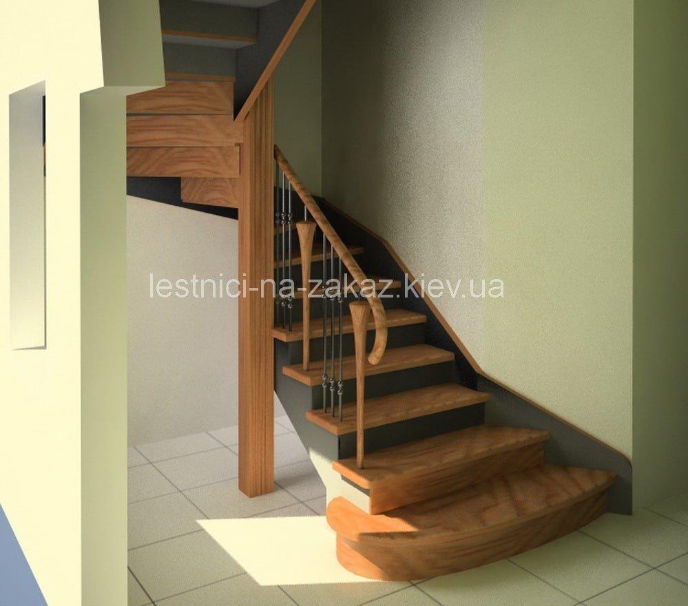 классическая забежная лестница