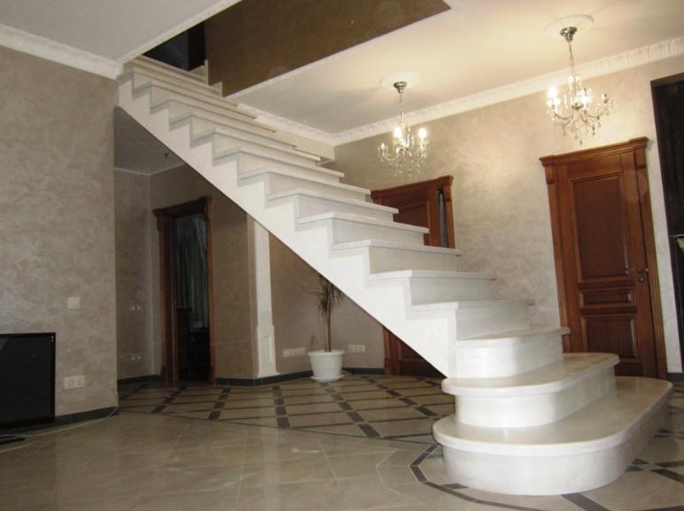 установка бетонной лестницы