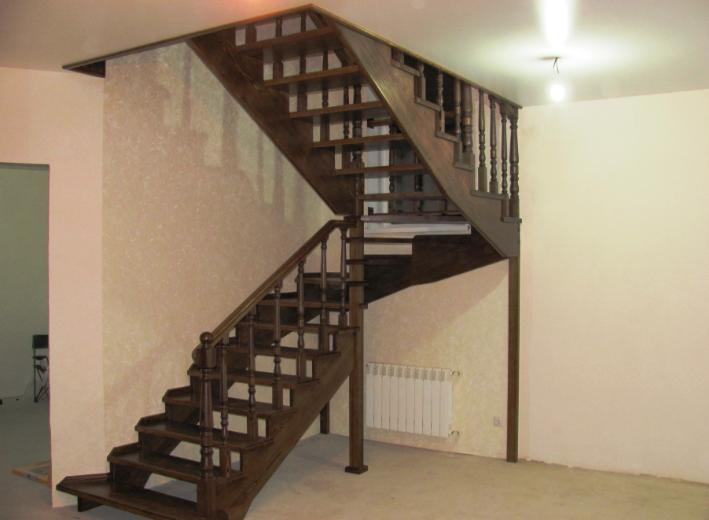 открытая деревянная лестница под заказ стоимость