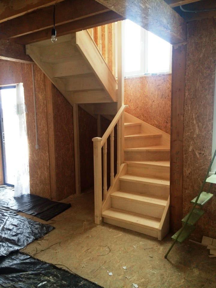 забежная лестница частный дом