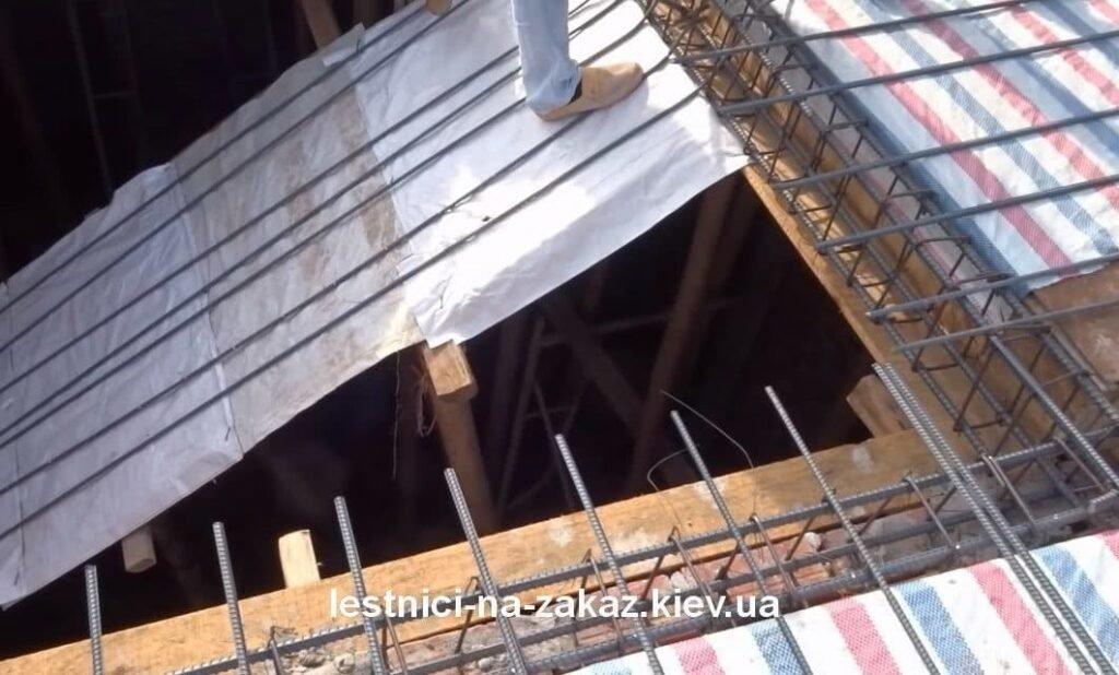 как делают бетонную лестниц на заказ