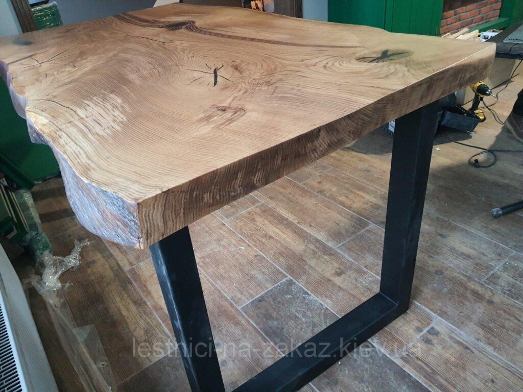 дубовй стол слэб под заказ