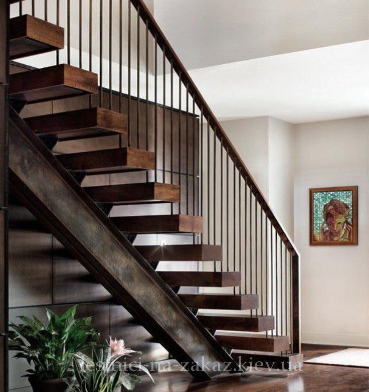 Металлокаркасные каркасные лестницы под заказ
