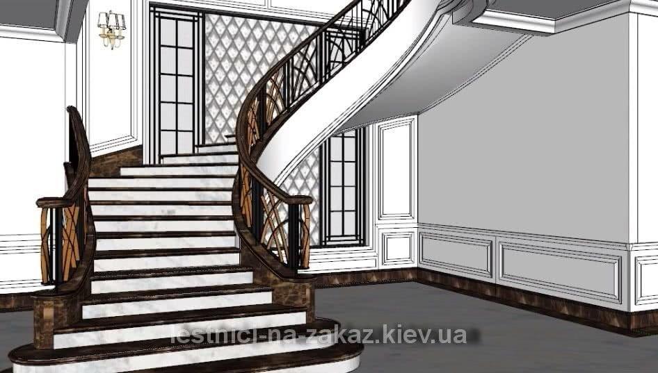 проект бетонной лестницы на заказ