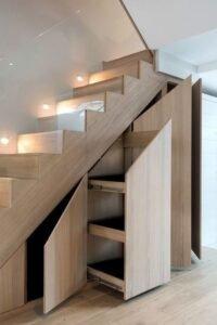 варианты лестниц со стеклянными перилами