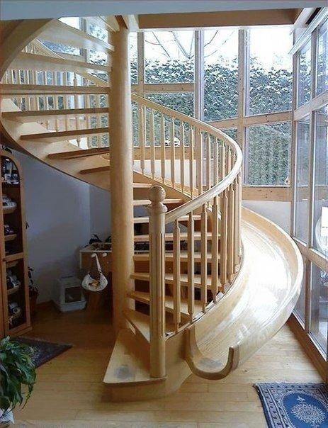 винтовая лестница с декором