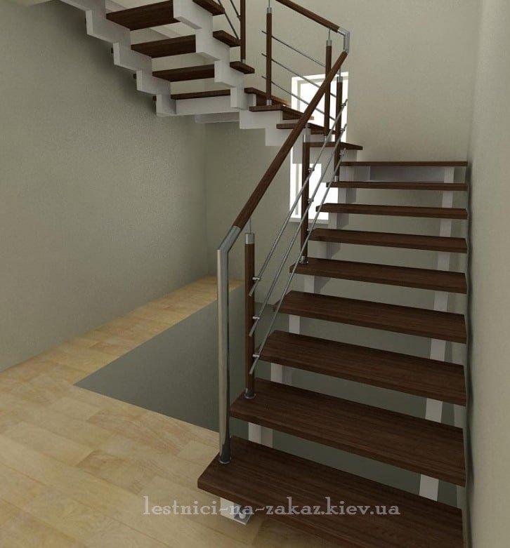 металлические Лестница с забежными ступенями на заказ