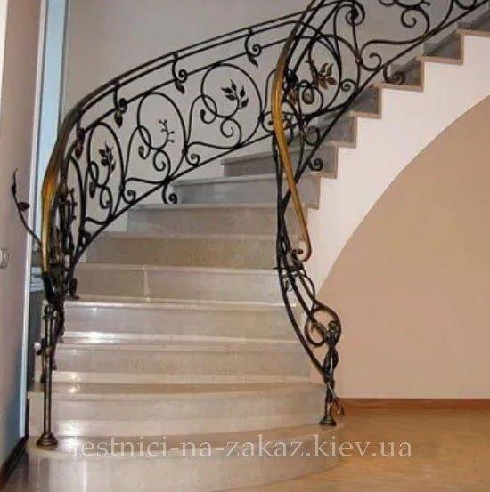 винтове перила для лестницы из металла