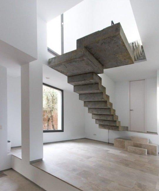бетонные лестницы идеи