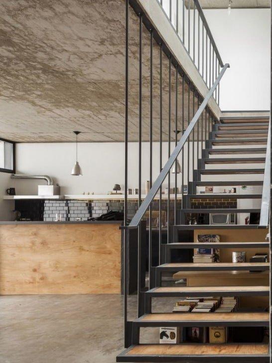 различные проекты лестниц из металла идеи