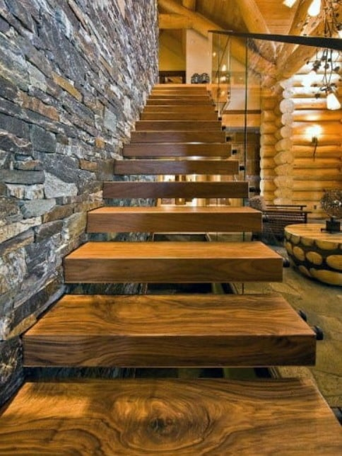 дизайн идеи лестниц консольных для коттеджа
