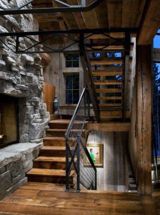 дизайн идени лестниц для дачи