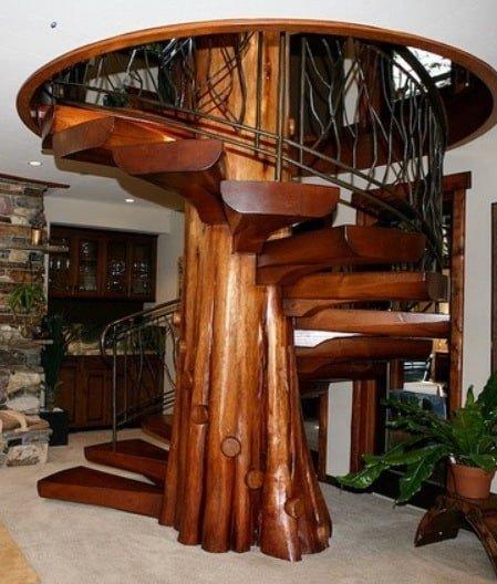 Основа  лестницы– древесина