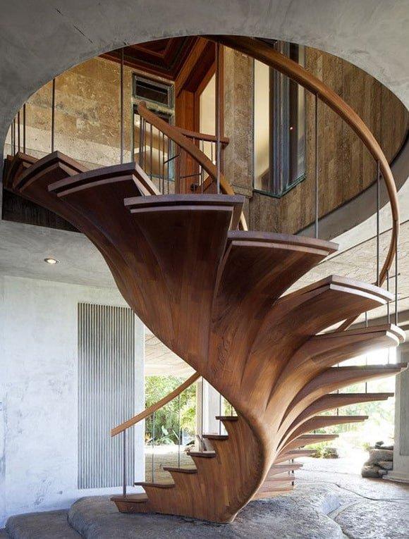 винтовая открытая лестница