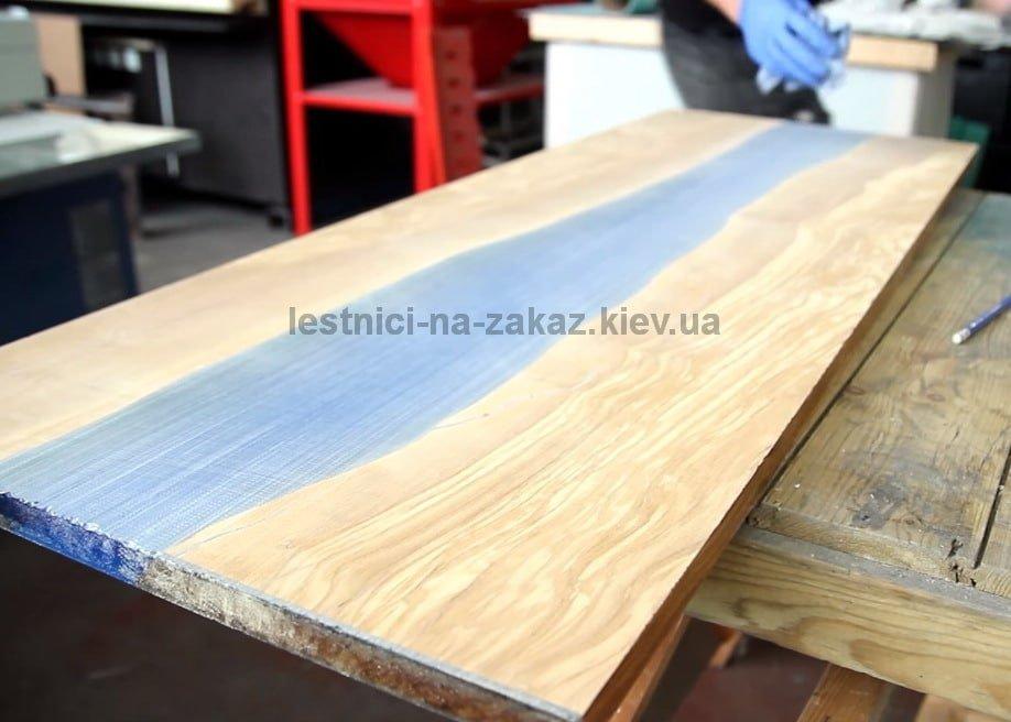 слэб мебель из эпоксидной смолы стол