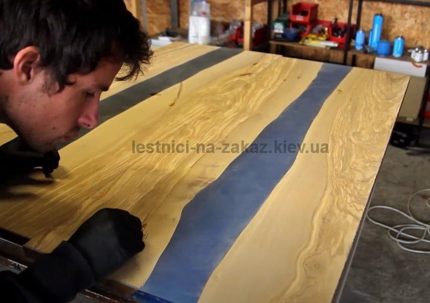производство столов из слэбов