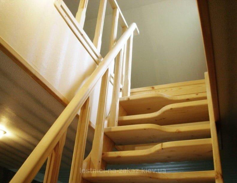 Лестница утиный шаг под заказ Вишневое