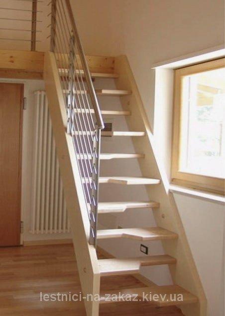 """лестница """"утиный шаг"""" из массива дерева"""