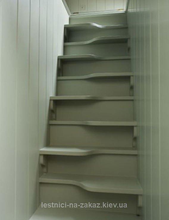 """лестница """"утиный шаг"""" из массива ясеня"""
