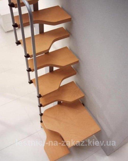 """лестница """"утиный шаг"""" на металлокаркасе на заказ"""