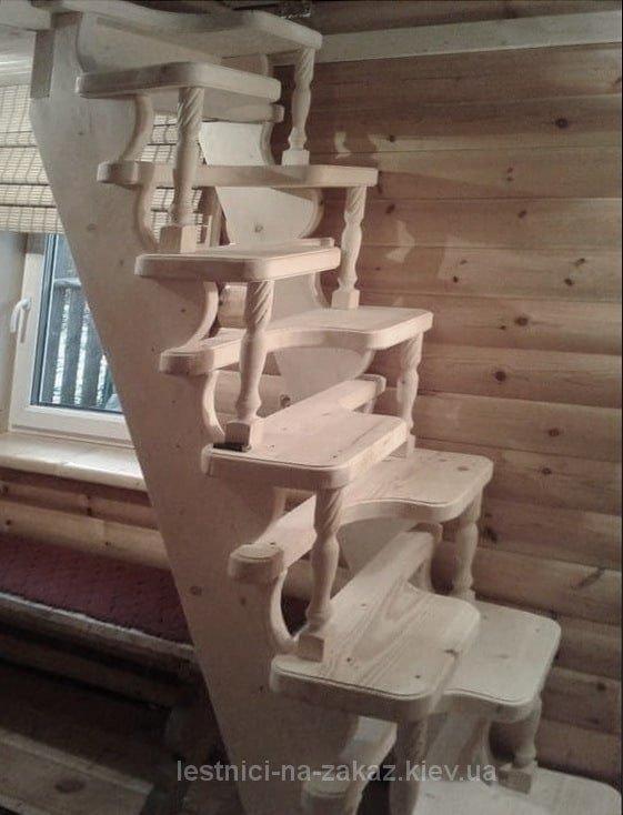 """как выглядит лестница """"утиный шаг"""" на чердак"""