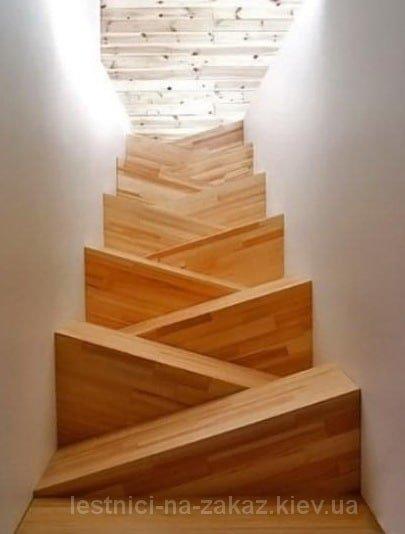 Лестница Гусиный шаг: фото на второй