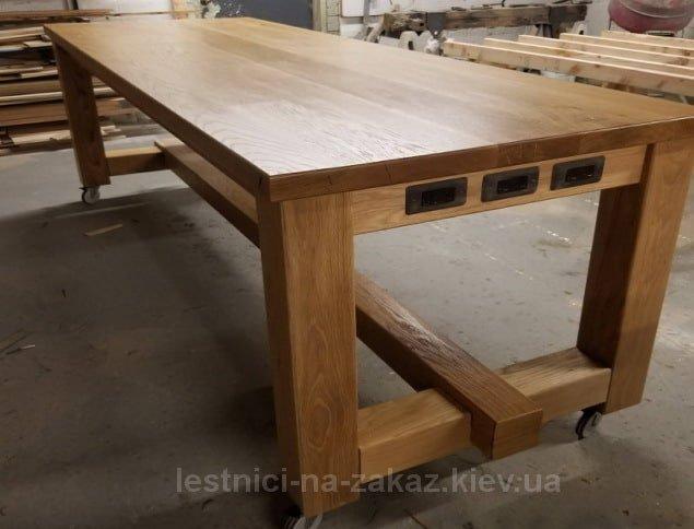 столы из натурального дерева в стиле лфт